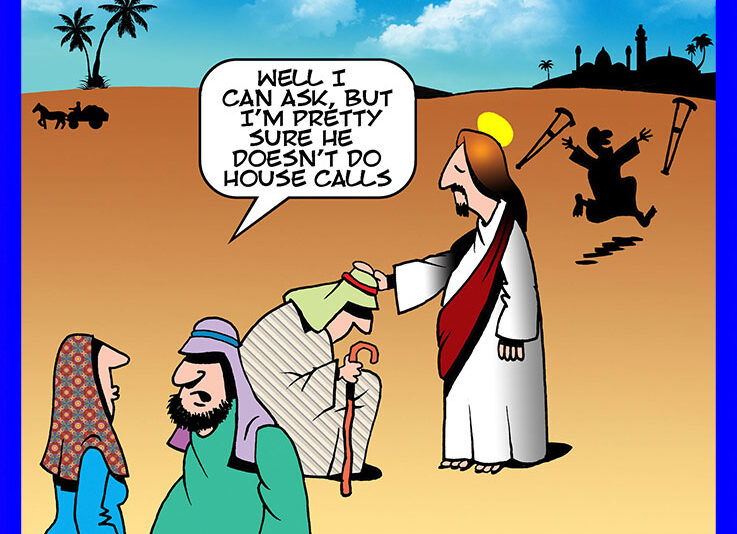 Jesus miracle cartoon