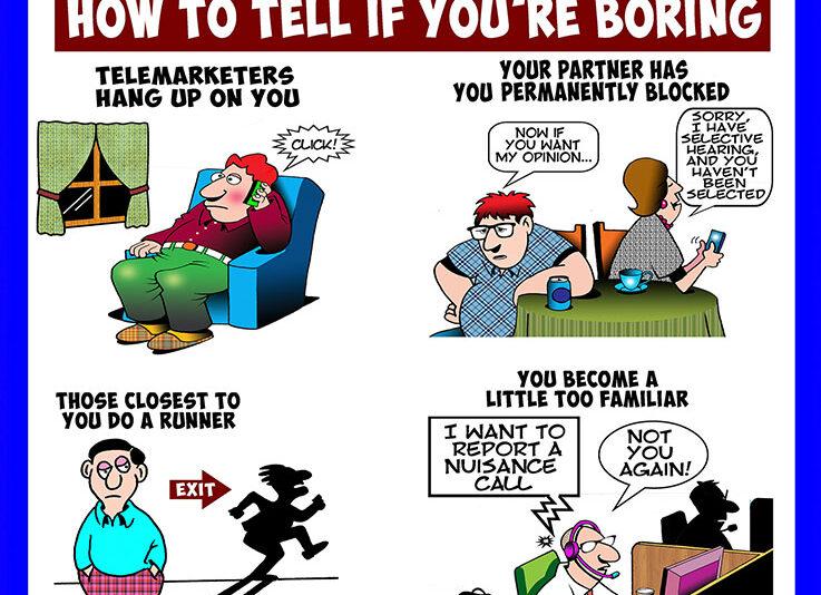 Boring people cartoon