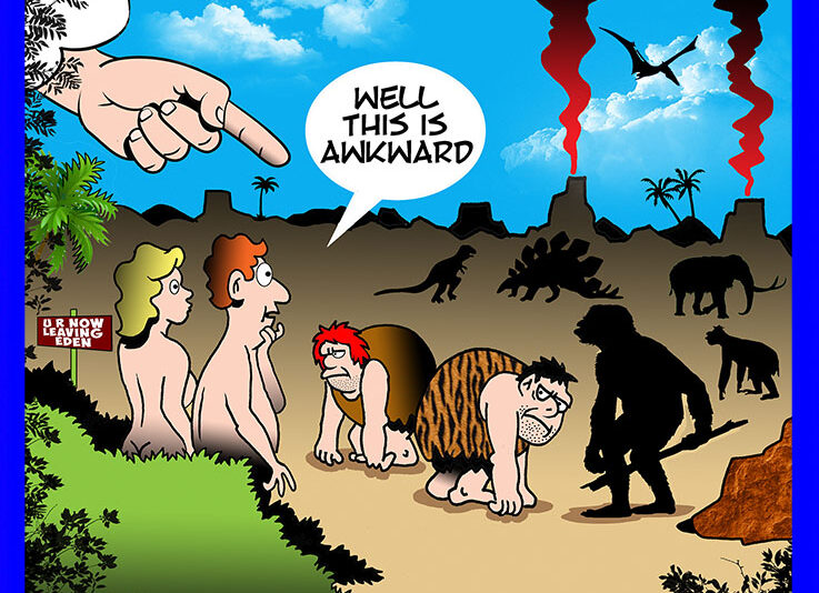 Garden of Eden cartoon