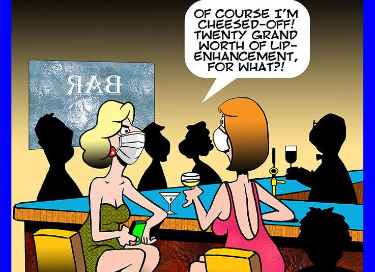 Lips enhancement cartoon