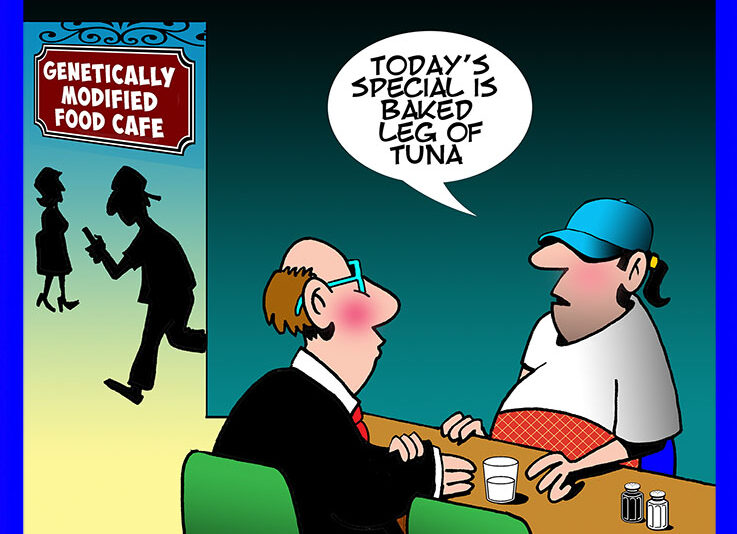 GM foods cartoon