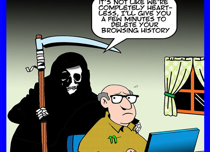 delete browsing history cartoon