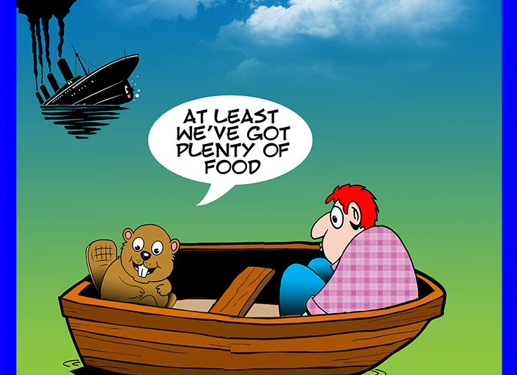 Wooden boat cartoon