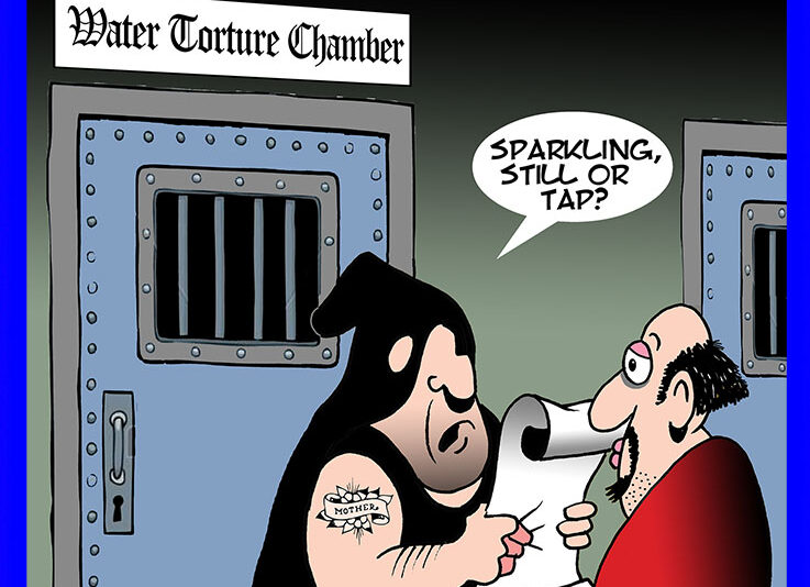 Water boarding cartoon