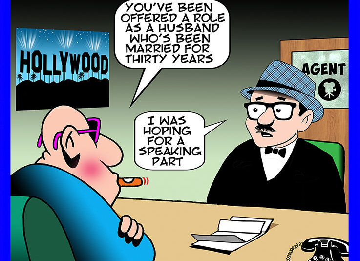 Hollywood agent cartoon
