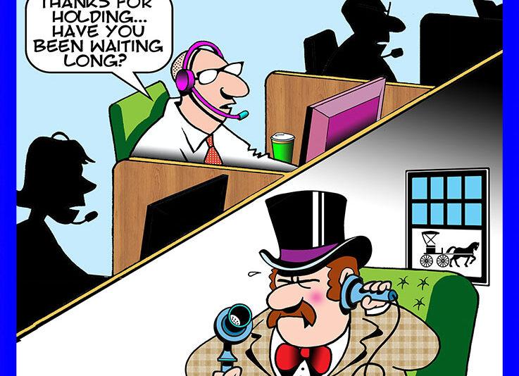 Call centre cartoon