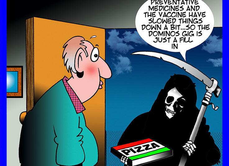 Pizza delivery cartoon