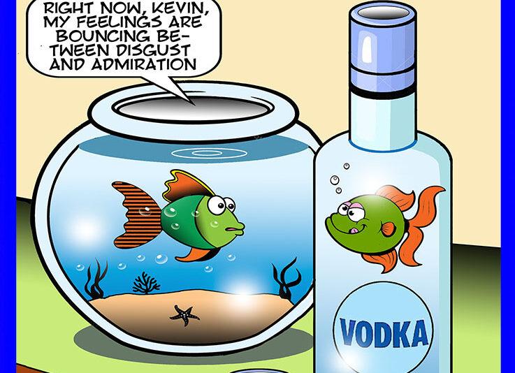 Fishbowl cartoon