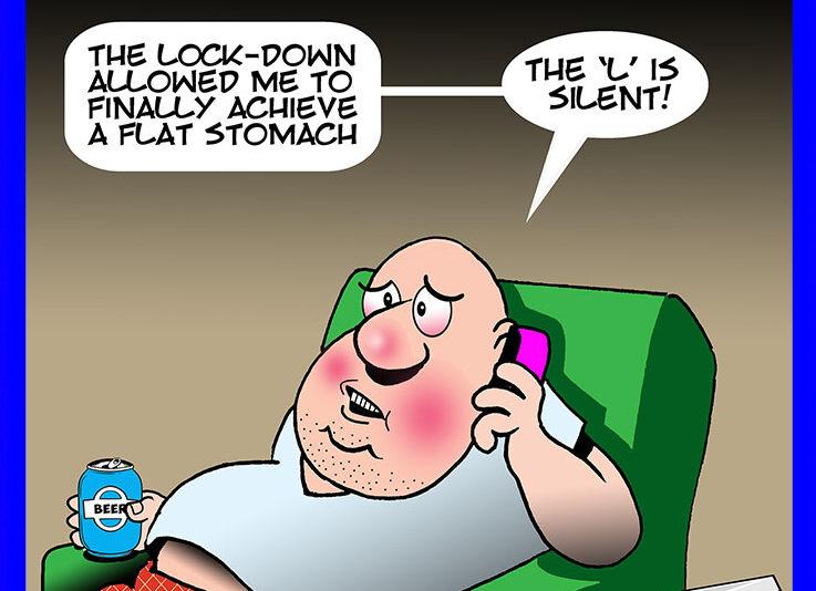 Quarantine cartoon