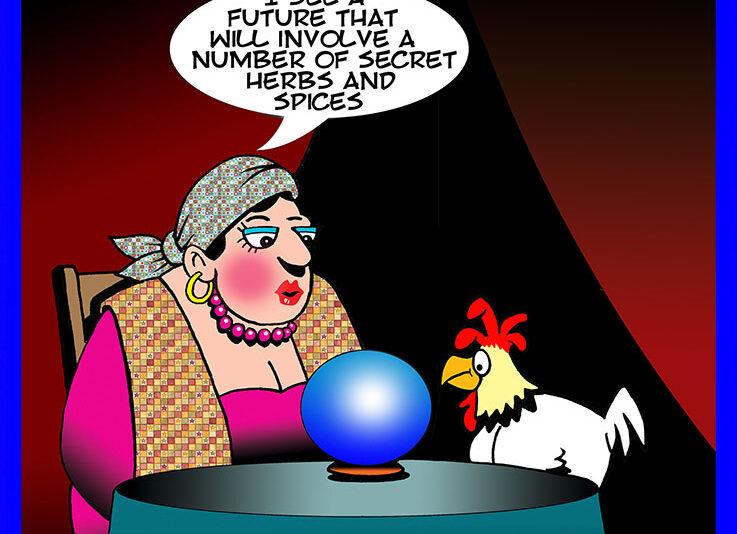 Fortune teller cartoon