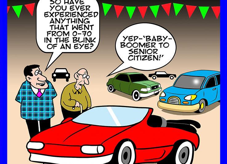 Senior citizen cartoon