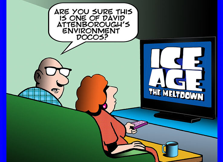 Environment documentary cartoon