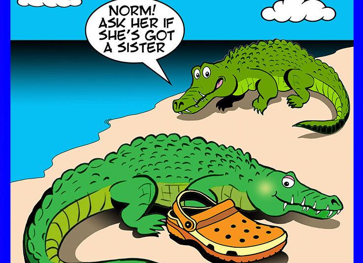 Crocs shoes cartoon