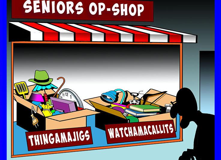 Elderly cartoon