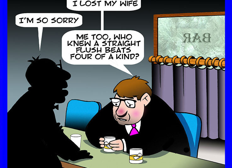 Poker cartoon