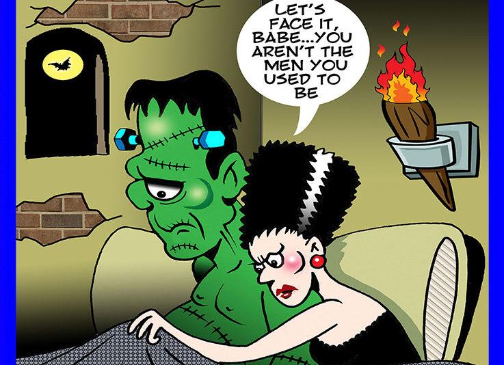 Frankenstein cartoon