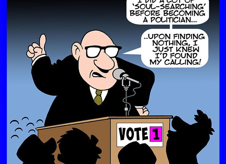 Voting cartoon
