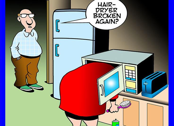 Hairdryer cartoon