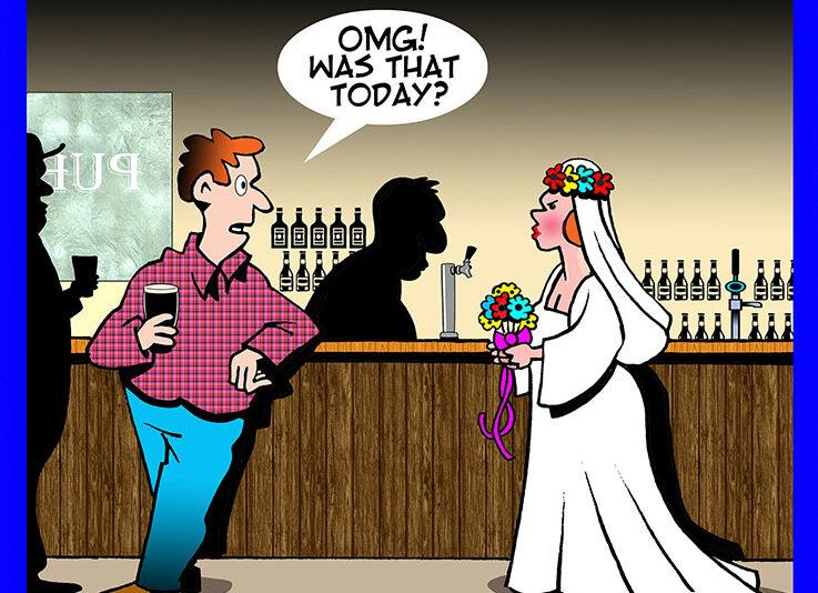 Bucks party cartoon