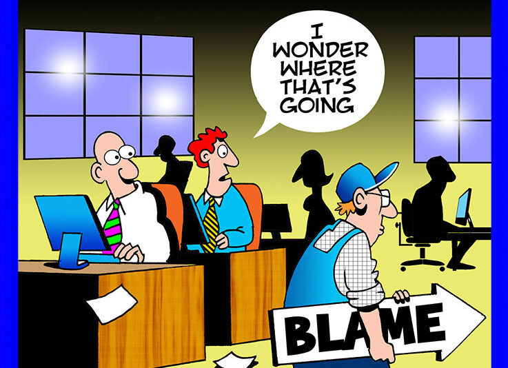 Blaming cartoon