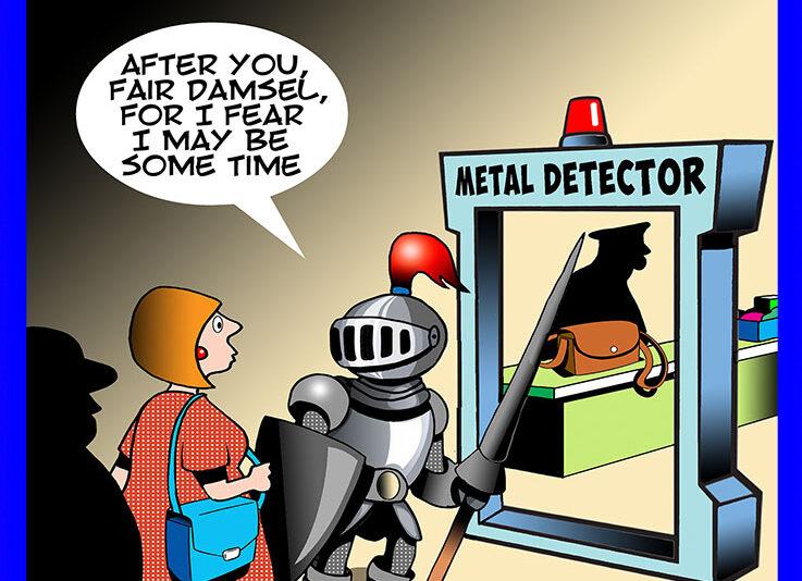 Metal detector cartoon
