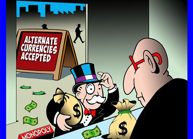 Crypto currencies cartoon