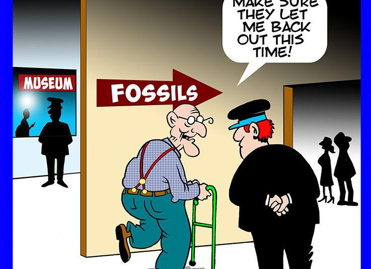 Old Fossil cartoon