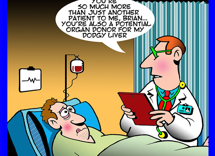 Bedside manner cartoon