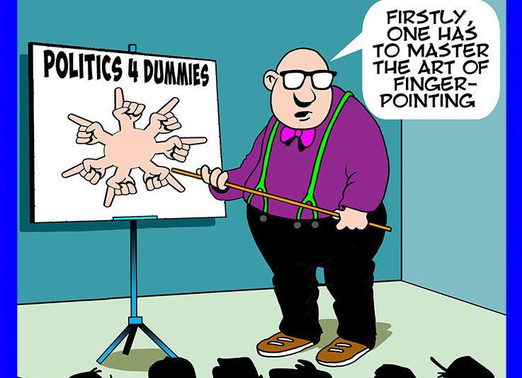 Politicians cartoon