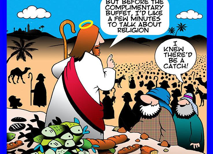 Sermon on the mount, cartoon