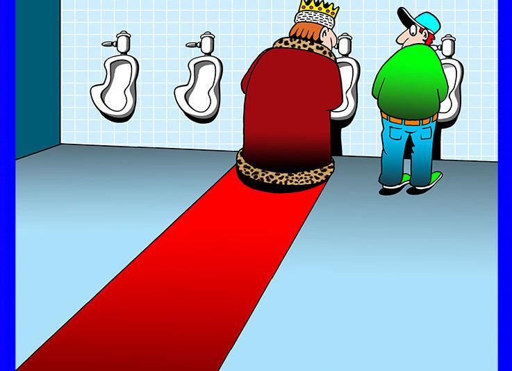 Red carpet cartoon