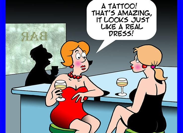 Body tattoo cartoon