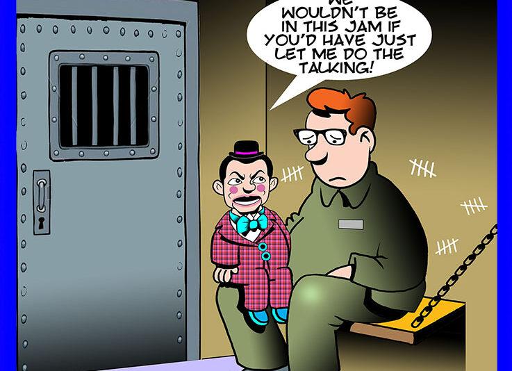 Talking dummy cartoon