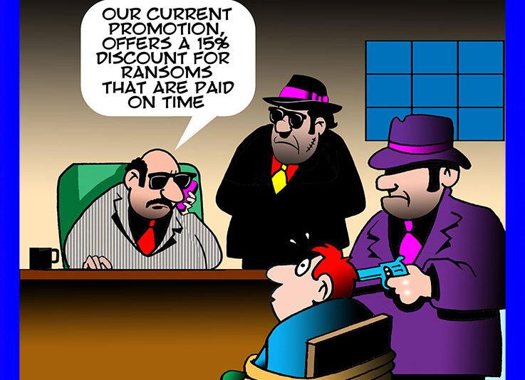 Ransom cartoon