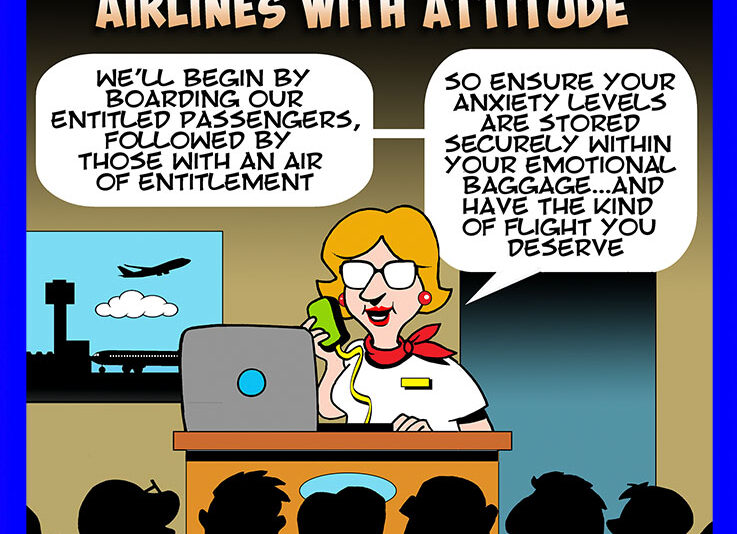 Budget airlines cartoon