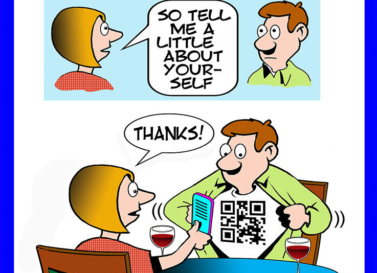 QR Code cartoon