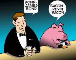 Kevin Bacon cartoon