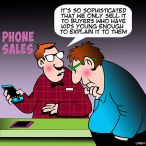 Phone sales cartoon