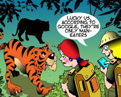 Women in the jungle cartoon