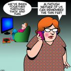 Obese cartoon