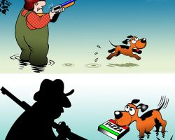 Duck hunting season cartoon