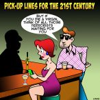 Pick-up lines cartoon