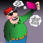 iPhone cartoon