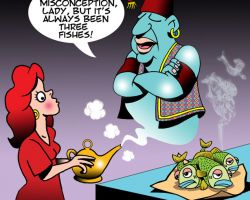 Genie in a bottle cartoon