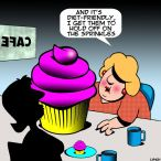 woman dieting cartoon