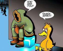 Quack addict