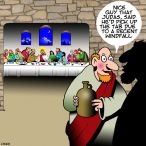The Last supper cartoon