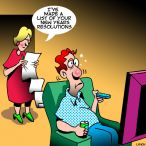 Henpecked husband cartoon