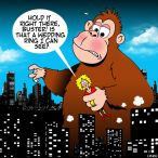 King Kong cartoon