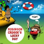 Robinson Crusoe cartoon